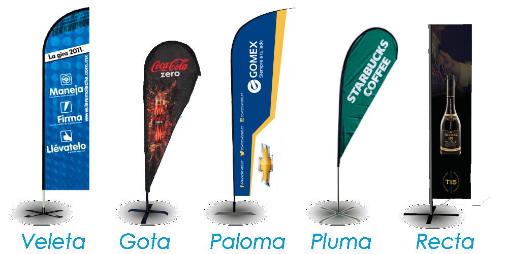 Modelos de banderas publicitarias